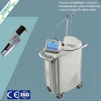 Beauty salon and spa use alexandrite laser hair removal machine/laser hair removal instrument