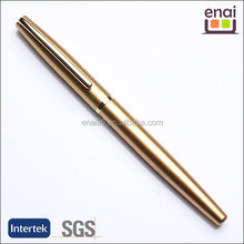 classical but fashionalbe high grade metal gold fountain pen with logo customized accetped