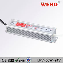 factory price LPV-50W single output waterproof power supply led 50w 24v 2.1a