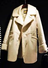 New Korean Women lamb wool long sections windbreaker jacket Wild fashion jackets high quality coats