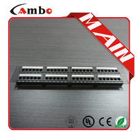 Free sample Cat5e/cat6 with jacks 24/48 Best Price 1u home networking patch panel