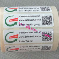 Security tamper proof barcode stickers label in roll,Custom frequency barcode sticker,