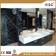 nero marquina marble slab table top