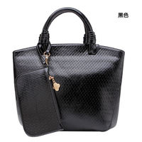 wholesale alibaba Retro style luxy black pp woven bag buyer with any color