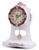 White Table Pendulum Modern style table clock skeleton clock with Seiko Movement
