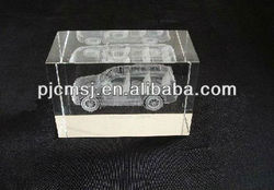 2015 Wholesale customized transparent Laser Crystal Automobile and car For Souvenirs & baby favors