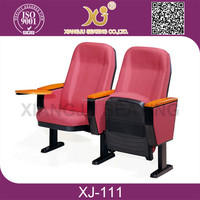 hot sales stackable furniture conference chair with writing tablet