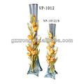 decorativo vidrio claro florero de cristal vp-1012