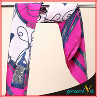 Fashion Digital Printing Japanese Silk Scarf