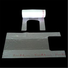 clear plastic t shirt bags on roll with environmental material