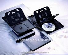 Plastic black mulitiple cool dvd case for 6 discs