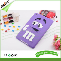 Cute cartoon 3d M&M bean silicone tablet cover case for ipad case,tablet accessories silicone case for tablet 9.7