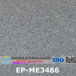 Outdoor rotary lawn mower silver effect electrostatic powder coating