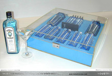 BS Bombay Sapphire Acrylic high quality full indoor bar sets