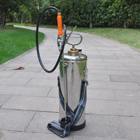 (82123-1) Airless 8Liters 304SUS hospital used spray with S/S lance and brass nozzle durable stainless steel pump spray
