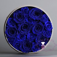 decorative real touch preserve blue rose flower for party decoration