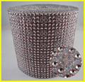 Venta al por mayor de plata de malla de base, 24 rows de encaje de plástico, decorativo ajuste de la cinta