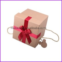 With your own logo corrugated carton box kraft paper gift box