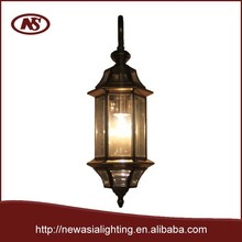 Copper color and clear color ,decorative style,european type,modern indoor or outdoor wall lamp