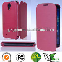 New design Leather flip cover case for Samsung Galaxy S4 i9500