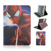 New ! Hot Selling Rotating Standing Leather Case With Amazing Spider-man Pattern For Apple iPad 234(red)
