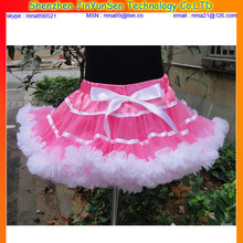 high quality tutu dress with pink and white color