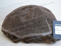 6inch gray natural straight toupee