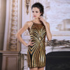 DORISQUEEN New Design Golden Sequins Short Sexy Cocktail Party Dress 6130