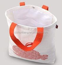 cotton canvas diaper bag/ cotton bag with short handles/ wholesale white cotton bag