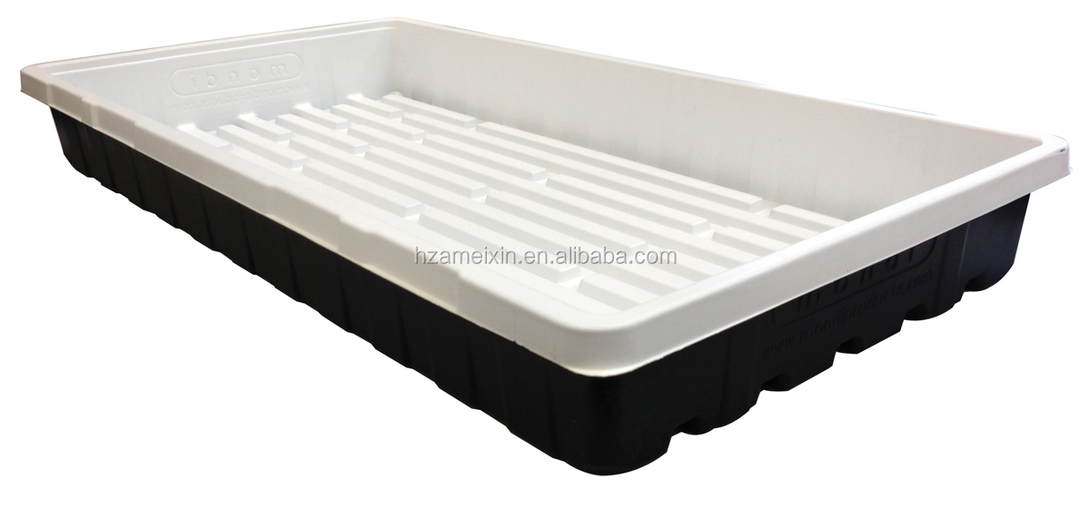 large plastic plant trays