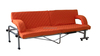 indoor folding sofa bed with armrest