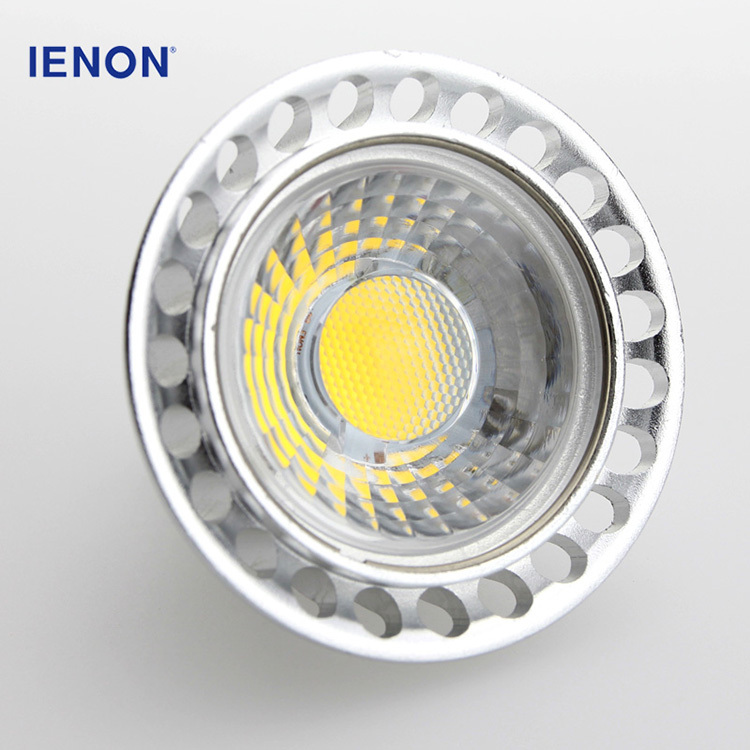 Hot sale warm white dimmable cob led spot light mr16 220v with aluminum die casting housing
