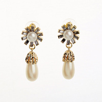 Wholesales Hot Pearl Earrings Fashion Color Earrings Cute Simulant Peal Women Earring