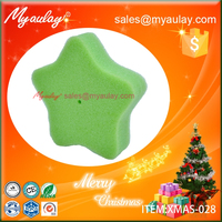 2015 Green Christmas decorations star sponge wholesale product XMAS-028