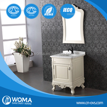 WOMA 3091 China Import and Export Fair toilet design,oak solid wood bathroom cabinet