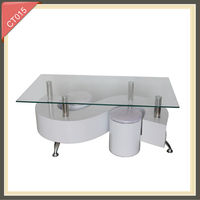 modern coffee table bases for glass tops CT015
