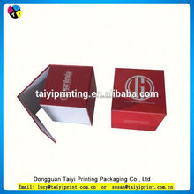 Customized printed velvet covered paper gift packing boxes