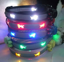 Fashionable and lovely led dog leash/led pet collars whoelsale in China