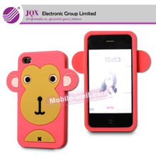 hot sell carton animal silicon phone case for iphone