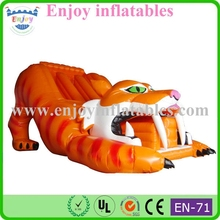 tiger inflatable slide, giant kid slides, inflatable games, bouncy inflatables