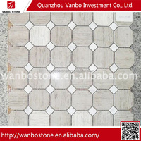 New design special marble mosaic with glass for floor