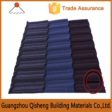 Nosen type Zinc-aluminum stone coated colorful metal roof tile for villa for sale