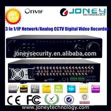 H. 264 de la red de seguridad de circuito cerrado de televisión canal 32 híbrido dvr, con el dvr, nvr, hvr, las funciones de