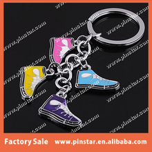 12 Years Metal Crafts Field OEM Colorful Sneaker Shaped Key Chain