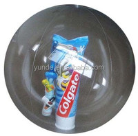 Promotional clear pvc inflatable transparent beach ball
