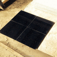 Galaxy black sparkle granite tile with golden spot