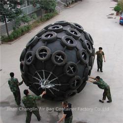 1.5m diameter 3m long floating type marine rubber fender