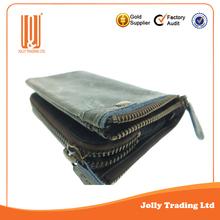 Fashion wholesale factory cheap leather wallet men