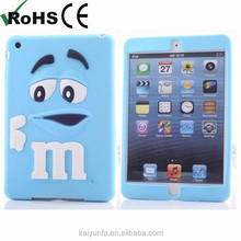 Top Quality m&m's chocolate bean rubber case for ipad mini fashion