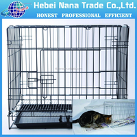 high quality portable foldable metal wire pet cage cat crate